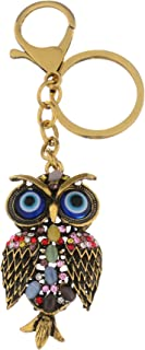 Giftale Owl Keychain for Women Cute Bag Charms Crystal Rhinestone Pendant Car Key Ring