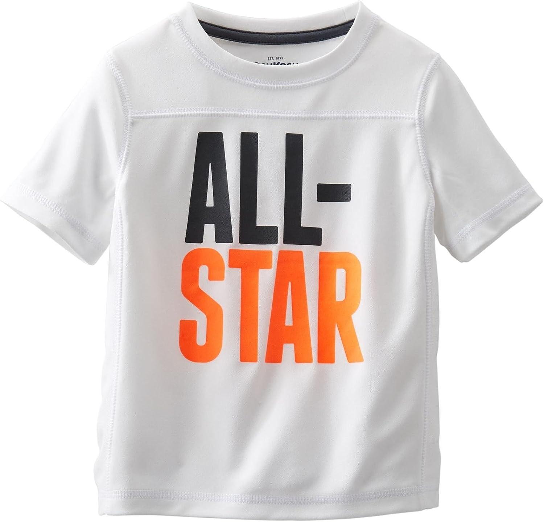 OshKosh B'Gosh Little Boys' All Star Active Tee (Toddler/Kid) - White - 4