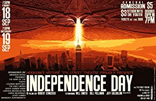 Gifts Delight Laminated 37x24 Poster: Poster Design for Independence Day Movie were Showing Independence Day at The 7th Street This September. This is The Poster I Designed for it.