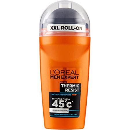 L'Oréal Paris Men Expert Thermic Resist - Deodorante Uomo Roll On Anti-Traspirante - 50 Ml
