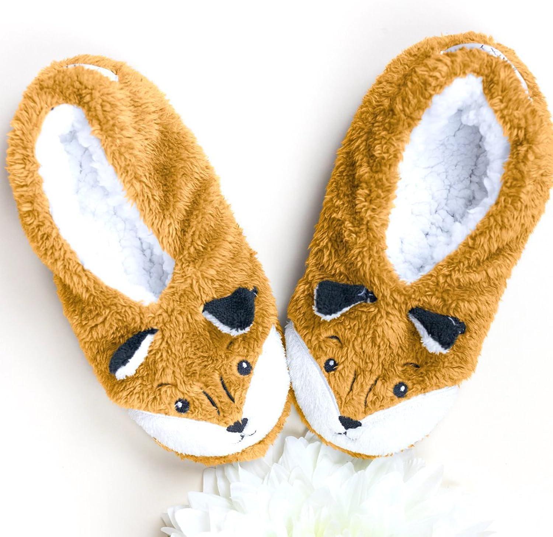 Footsies Womens Slippers - Foxy Lady (Medium) Brown