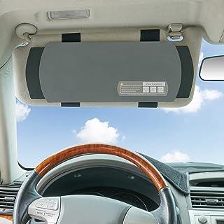 WANPOOL Auto Visier Sonnenschutz, Auto Visier Blendschutz Sonnenschutz Extender für Vordersitz Fahrer oder Beifahrer   Grau