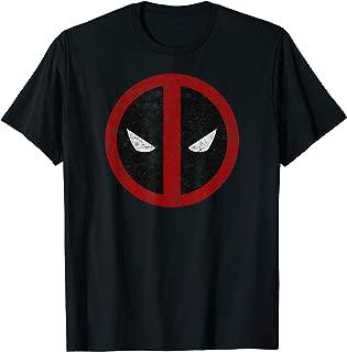Deadpool Mask Classic Distressed Graphic T-Shirt T-Shirt