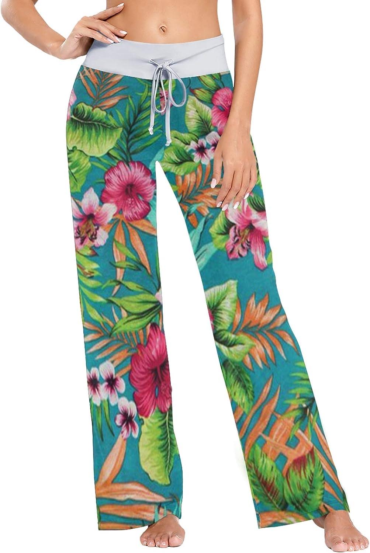 MSACRH Pajama Max 42% OFF Pants for Women Wi Genuine Free Shipping Lovely Sleepwear Flowers