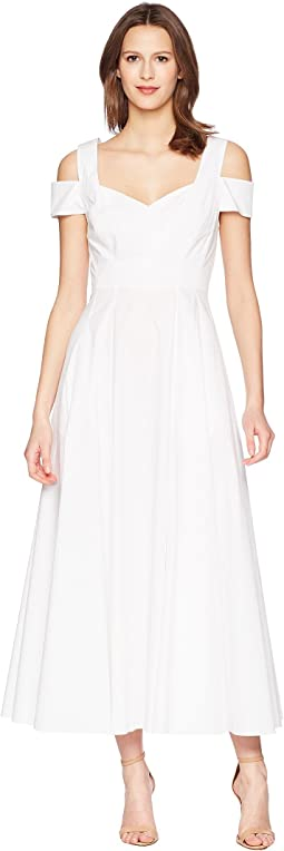 Prabal Gurung Cotton Poplin Elena Cold Shoulder A-Line Dress