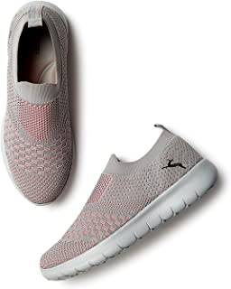 Marc Loire Women's Lightweight Athleisure Knitted Active Wear Slip-On Sneaker Shoes for Sports, Athletics and Walking