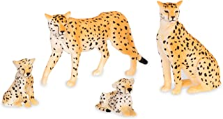 Terra by Battat – Cheetah Family - Miniature Cheetah Toy Animals for Kids 3-Years-Old & Up (4Pc), Brown/a (AN2820Z)