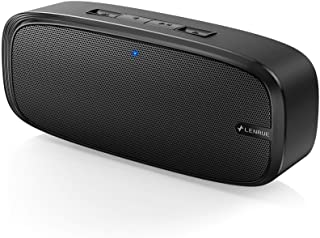 LENRUE Bluetooth Speaker with Loud Stereo Sound Rich Bass 12-Hour Playtime Built-in Mic. Perfect Portable Wireless Speaker...