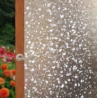 Arthome Privacy Window Films Static Decorative Film Vinyl Non Adhesive Film Anti UV Heat Control Window Sticker 23.6 inches by 100 inches