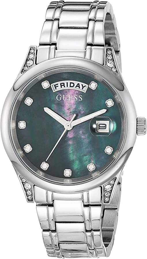Silver-Tone/Mother-of-Pearl Dial