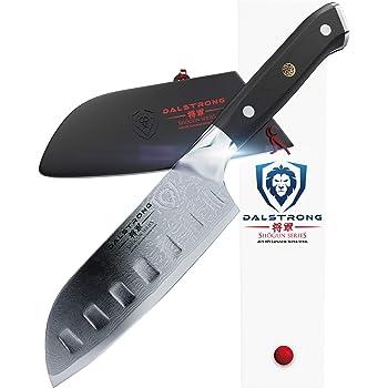 "DALSTRONG Mini Santoku Knife - Shogun Series - 5"" - Japanese AUS-10V Super Steel - Damascus Layered - Vacuum Heat Treated -w/Guard"""