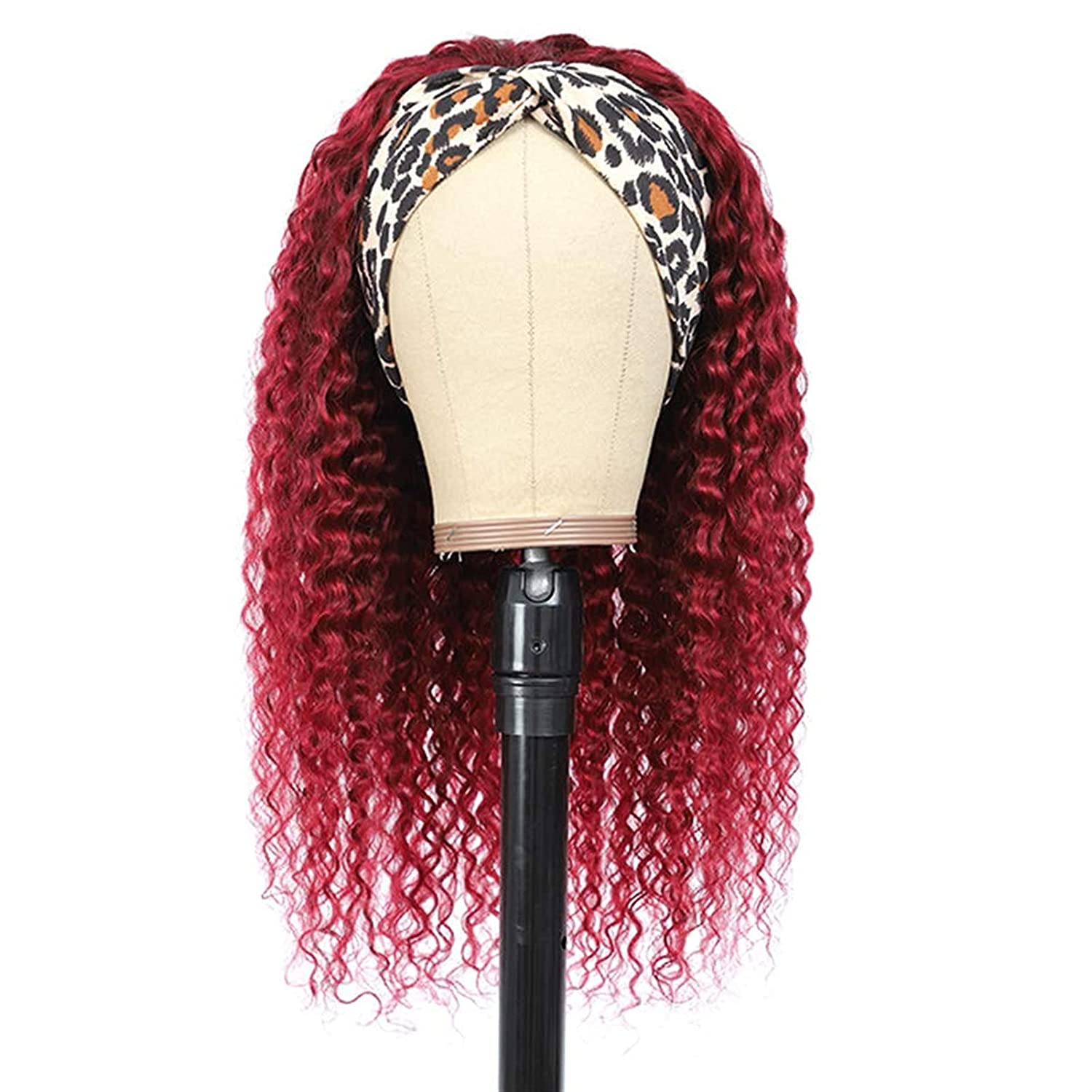 Sale special price Cosplay Ombre Curly Headband Wig trust for Women Lace None 99J W Front