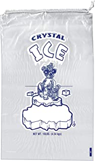 10 lb Ice Bags with Drawstring 11 in x 19 in x 1.4 mil Pack of 100 Heavy Duty Commercial Grade