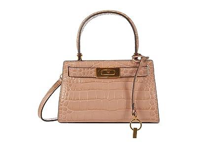 Tory Burch Lee Radziwill Embossed Petite Bag (Devon Sand) Handbags