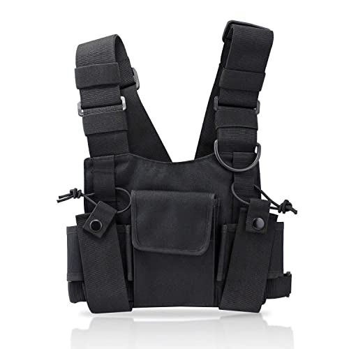abcGoodefg Radio Chest Harness Chest Front Pack Pouch Holster Vest Rig for  Two Way Radio Walkie 61d0fc2c049bd