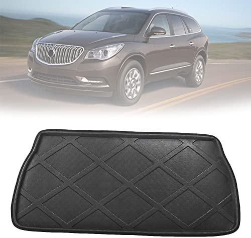 lowest Mallofusa online online sale Cargo Liner Rear Cargo Tray Trunk Floor Mat Compatible for Buick Enclave 2009 2010 2011 2012 2013 2014 2015 2016 2017 Black sale