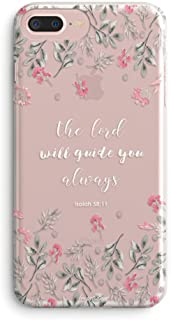 iPhone 5s Case,iPhone SE Case,Floral Flowers Bible Verses Inspirational Quotes Cute Girls Women Isaiah 58:11 The Lord Will Guide You Spring Roses Clear Soft Case Compatible for iPhone SE/iPhone 5S
