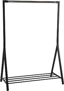 AC Design Furniture Keld Penderie, Métal, Noir, L: 59 x l: 117 x H: 165 cm