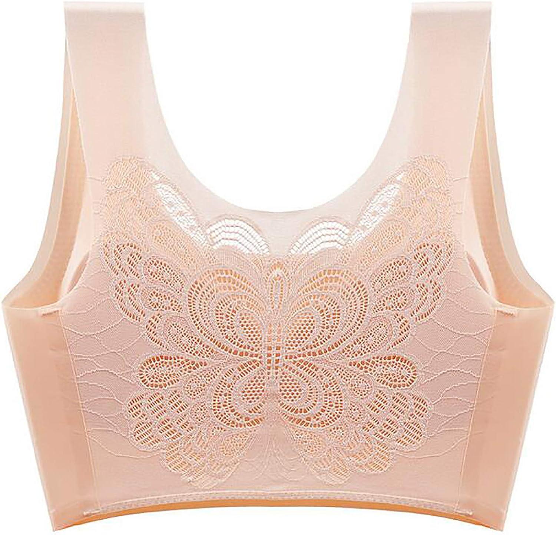 Women's Comfort Plus Size Sports Bra Active Lifestyle Revolution High Impact Seamless Wireless Racerback Bra