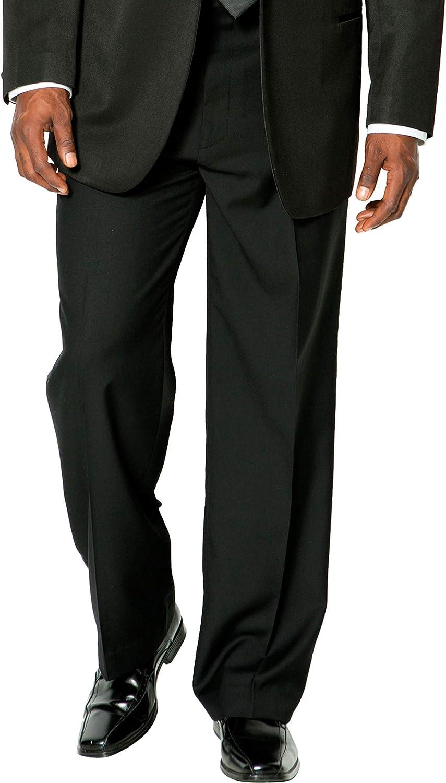 KingSize KS Signature Men's Big & Tall Plain Front Tuxedo Pants