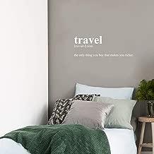 Vinyl Wall Art Decal - Travel Definition - 12