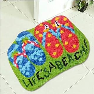 Coussin De Crochet Au Crochet De Tapis, Kits De Crochet De Loquet pour Adultes Débutants, Bricolage Broderie Tapis Artisan...