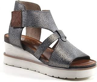 Diba True Greens Burg Metallic Wedge Sandal with White Bottom