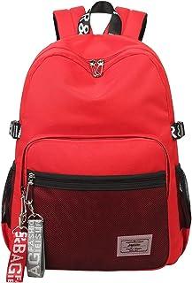 Classic Backpack Haversack Travel School Bag Student Simple Daypack Bookbag by Mygreen(Red)