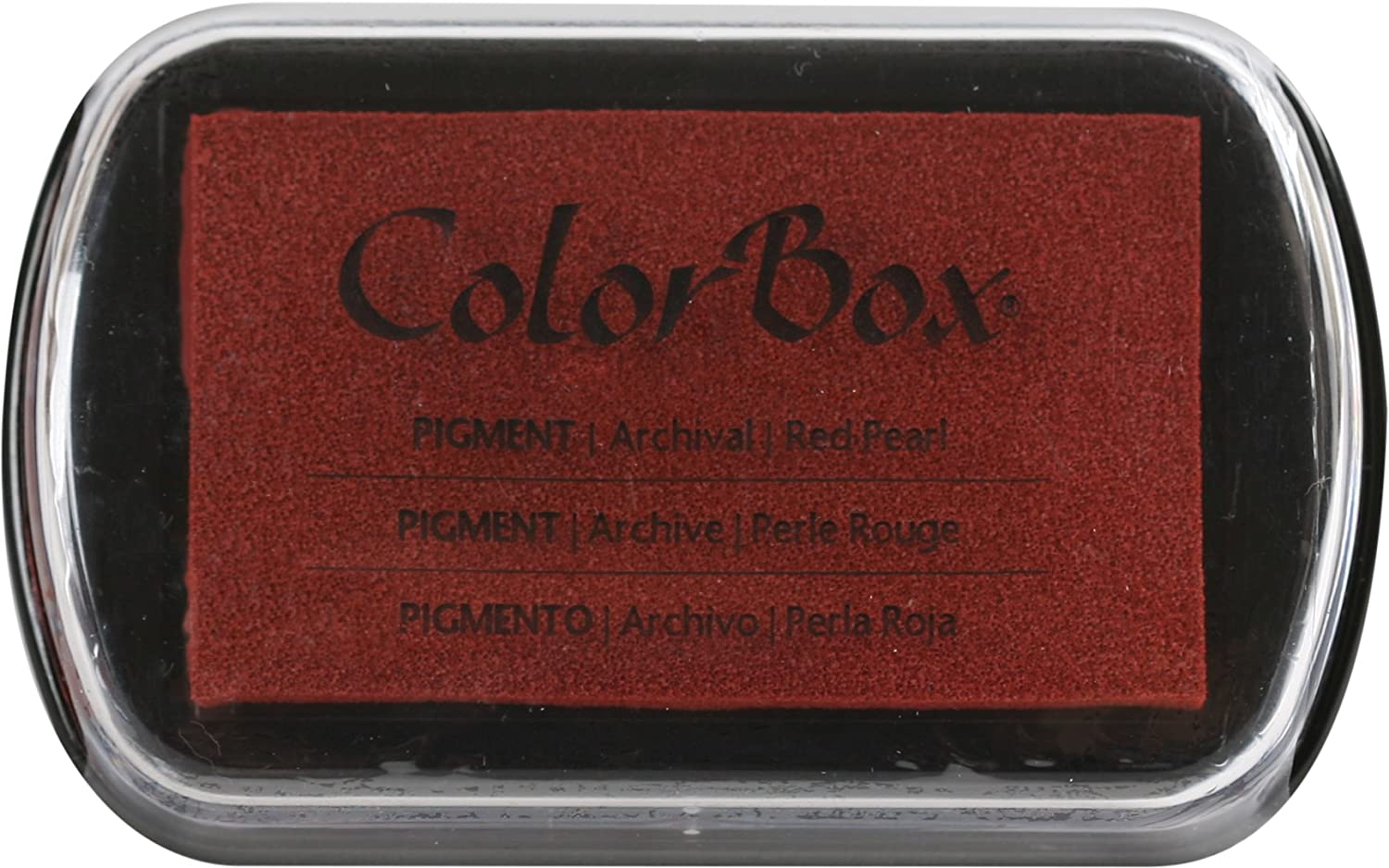 ColorBox Pigment Metallic inkpad 4 2.5-inch Ink Pad, Red Pearl, 4