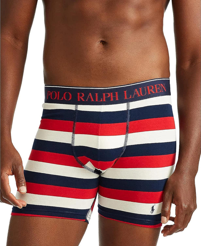 Polo Ralph Lauren RUGBY STRIPE Stretch Cotton Boxer Briefs, US Medium