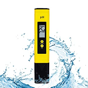 Toolazy Digital PH Meter,High Accuracy Water Quality Tester with 0-14 PH Range for Household Drinking, Hydroponics,Aquarium,Brewing,Laboratory,Pool,PH Pen Tester Kit with ATC,0.01 Resolution