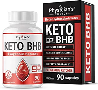 Keto Pills, Patented goBHB Formula - Stimulant Free Keto Burn - Maintain Ketosis, Improve Mental Focus, Support Endurance - Exogenous Ketones for The Ketogenic Diet, 90 Capsules