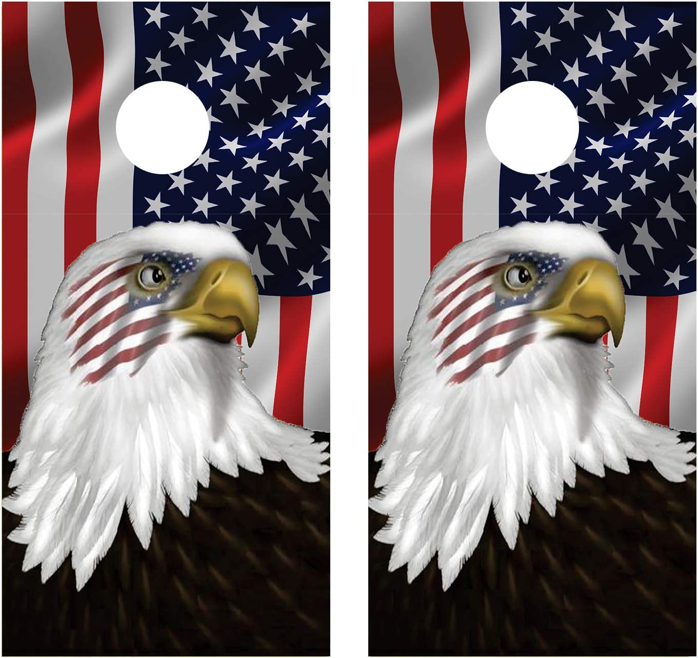 Deluxe Let's Print Big Eagle Eye Import Wraps Cornhole Board Decal