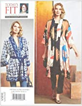 Vogue Fit by Sandra Betzina Misses' Kimono/Belts OSZ (One Size) Multi