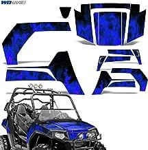Polaris RZR800 2006-2010 Graphic Kit UTV Decal Sticker SxS Wrap RZR 800 FLAMES BLUE