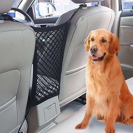 Vikey Auto Organizer Netz Universal Kfz Auto Netz Tasche Kofferraum Netz Barrier Für Hunde Dehnbar Mit Halter Für Kinder Und Haustiere Auto