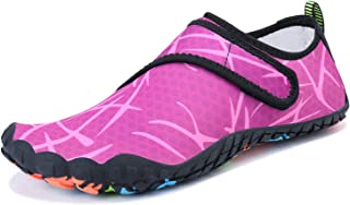 Mens Womens Water Sports Shoes Quick-Dry Lightweight Barefoot Wide Feet Toe Solid Drainage Sole for Swim Diving Surf Aqua Pool Beach Jogging Trip