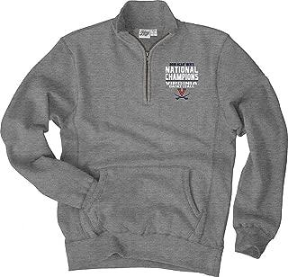 Elite Fan Shop Virginia Cavaliers National Basketball Champions Quarter Zip Sweatshirt 2019 Gray