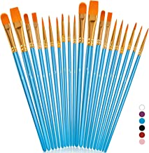 Soucolor Acrylic Paint Brushes Set, 20Pcs Round Pointed Tip Artist Paintbrushes for..
