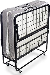 Milliard Cama Plegable de Invitados - Individual 79x190cm - con Colchón de Espuma 12,5 cm de Espesor - Estable Armadura de...