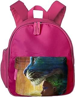 Rain Leopard Fantasy Peacock Black Girl Children's/Kids School/Nursery/Picnic/Carry/Travelling Bag Backpack Daypack Bookbags