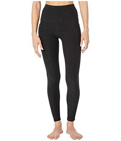 Beyond Yoga Spacedye High Waisted Pocket Midi Legging (Darkest Night) Women