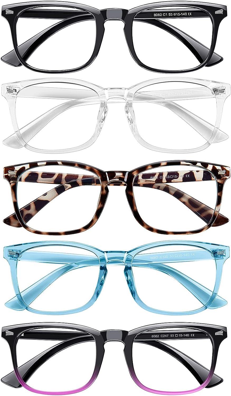 Blue Light Blocking Glasses,5Pack Computer Glasses for Women/men Anti Eyestrain