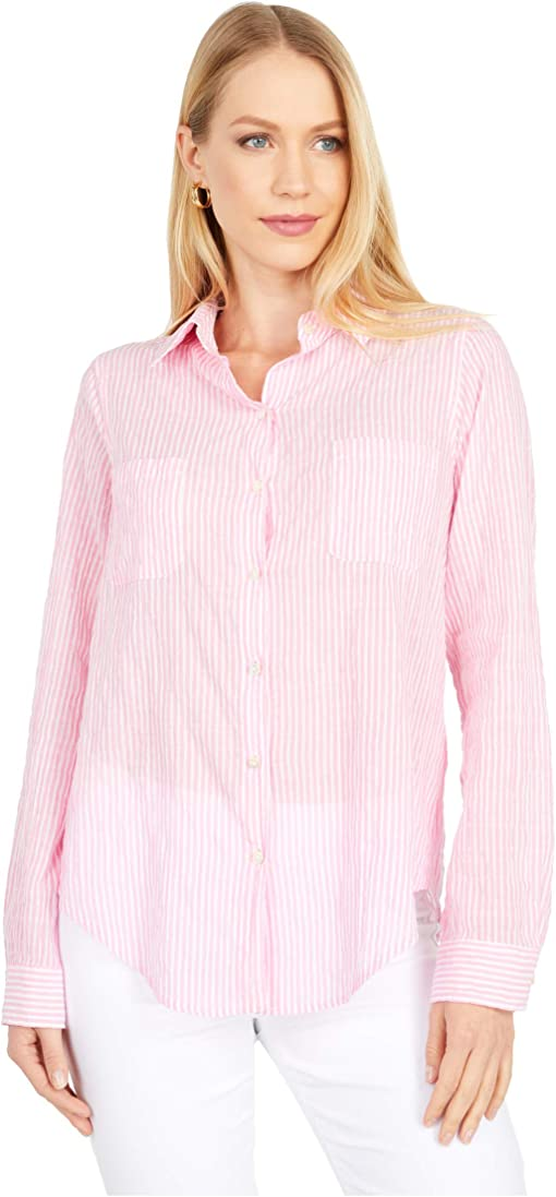 Prosecco Pink Lightweight Oxford Stripe