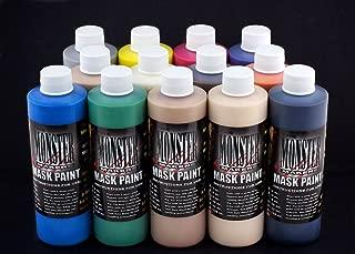 The Monster Makers Latex Mask Paint 13 Color Kit (4oz Bottles)