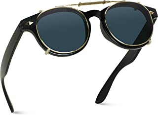 Fashion Vintage Clip On Lens Retro Sunglasses