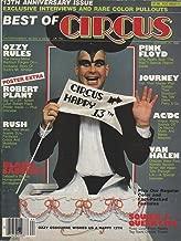 Circus Rock Magazine 31 October 1982 Ozzy Osbourne Randy Rhoades AC/DC Led Zeppelin Robert Plant Pink Floyd Van Halen RUSH Black Sabbath Queen (Circus Magazine)