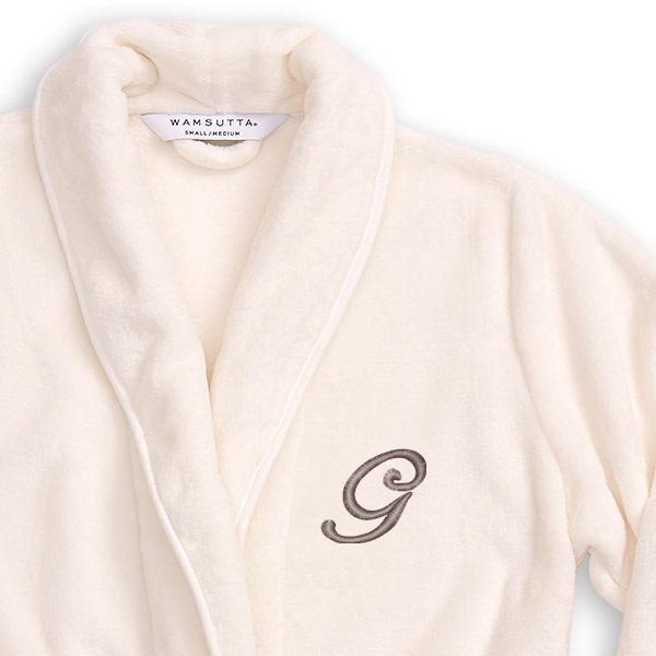 Wamsutta® Plush Initial Robe - Bed Bath & Beyond