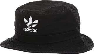 Unisex Washed Bucket Hat, Black/White, ONE SIZE