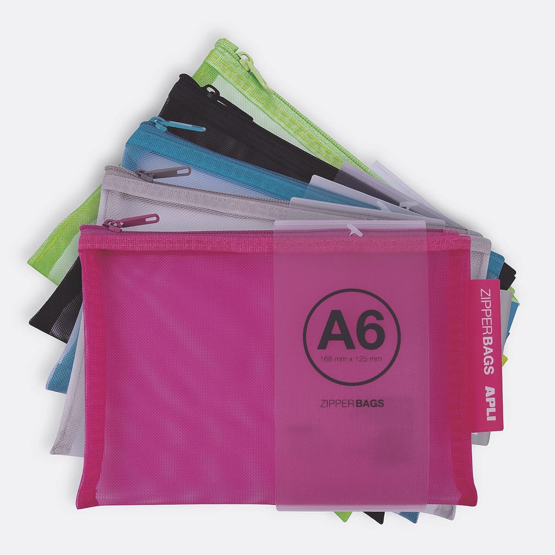 APLI 18024 - Bolsa nylon - Zipper bag - Portatodo nylon transpirable - A6-168 x 125 mm - Envío color aleatorio